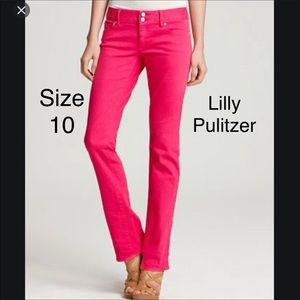 Lilly Pulitzer pink worth straight jeans 10